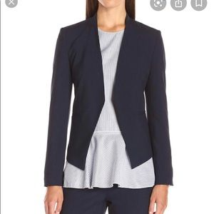 Theory Lanai Cotton Blend Blazer Jacket Navy 2